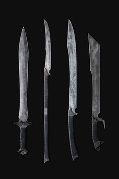Sick apocalyptic hand-forged blades by Zombie Tools Not one for impractical weapons, in the modern paradigm, but these are pretty dope. If I was in a battle that went and someone pulled one of these, I would shit in my hand and throw it. Swords And Daggers, Knives And Swords, Zombie Tools, Jace Lightwood, La Forge, Cool Knives, Arm Armor, Weapon Concept Art, Fantasy Weapons
