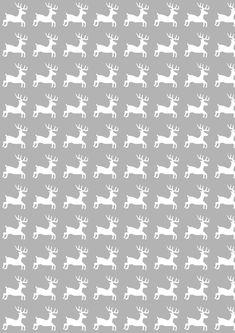 Free digital reindeer scrapbooking paper and 14 links for reindeer DIY ideas - freebie   MeinLilaPark – DIY printables and downloads