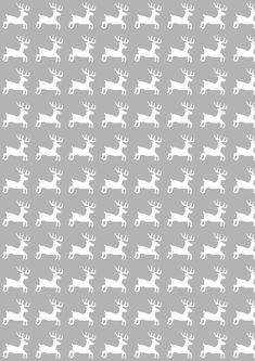 FREE printable reindeer pattern paper