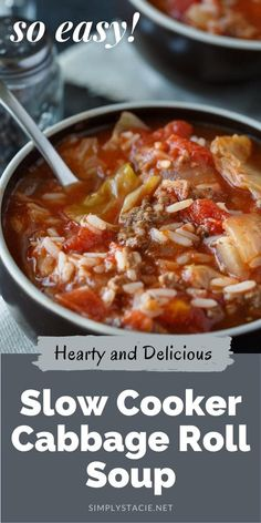 Cabbage Roll Soup gives you all those classic flavors of a cabbage roll, but in a hearty and comforting soup. Minimal prep required to make this hearty cabbage soup.