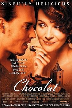 'Chocolat', 2000 - Director Lasse Hallstrom has crafted a charmingly simple film. A mysterious woman (Juliette Binoche) along with her daughter (Victoire Thivisol) arrive in a small French village to set up a Chocolate Shop. They're met with skepticism, then after tasting their delicious chocolates, they're warmly welcomed. But all is not sweet in this rigid community, with strong adult issues, but with the help of Vianne, Anouk and Roux (Johnny Depp), this tiny village becomes magical.