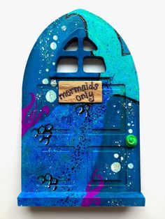 Mermaids Only One-of-a-kind Fairy Door by PinkGypsyRouge on Etsy