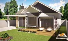 American-style 3 Bedroom House Plan project is a house plan, developed for land of 12 or 15 meters in front. With 3 bedrooms and 1 suite, It has an American-style room where the dining room, living room and kitchen are part of an ambiance. Indian House Plans, Bedroom House Plans, Dream House Plans, House Floor Plans, My Dream Home, Architecture Magazines, Amazing Architecture, Indian Homes, Small House Design