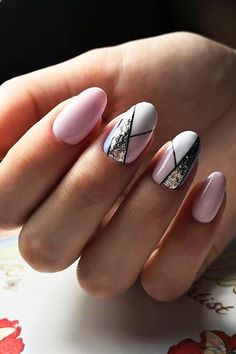30 Pinterest Nails Ideas You Will Like ❤ pinterest nails summer nails with stries alla nailartist ❤ See more: http://www.weddingforward.com/pinterest-nails/ #wedding #bride #weddinnails #nails