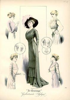 De Gracieuse October 1909, Edwardian Fashion Plate