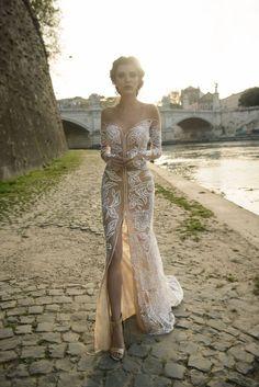 Off the shoulder long sleeve wedding dress by Julie Vino wedding dresses 2017   I take you #weddingdress #weddinggown