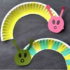 paper plate caterpillar craft (2)