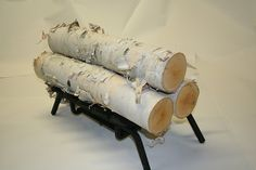 Wilson Enterprises Set of 3 3 Large Logs, White Birch -- Visit the image link more details. (This is an affiliate link) #FireplacesandAccessories