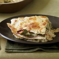 Chicken, Spinach Tortilla Bake....really good and super easy