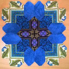 Olga K from Kiev made this Lucy Boston POTC block using border stripe mirror images!