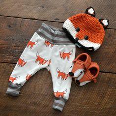 Fox chapeau chapeau Animal Fox au Crochet chapeau par AJsCrochets