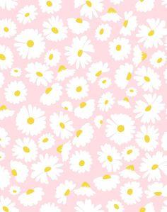 'Pop Daisy' Wallpaper by Wallshoppe - Pink - Removable Panel
