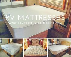 """We manufacture mattresses for your RV, motor home, travel trailer, camper, 5th wheeler, semi-trucks, & more. Sleep comfortable on the road with an """"at home"""" quality mattress. Call (954) 496-8400 or visit our showroom to find out what options we have for your new RV mattress.  http://www.comfortcustombedding.com/rvmattresses.html #comfort#RVtravel#RVing#RV#motorhome#motorhomes#mattress#mattresses#comfortcustommattresses#comfortcustombedding#comfortable#bedding#custom#camper#5th…"""