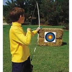 Junior Archery Set, 39 Inch Fiberglass Bow, 3 18 Inch Arrows, 4 Color Targets, Boxed and See more product bow and arrow for kids at http://pinterest.com/sulias/bow-and-arrow-for-kids/