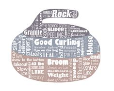 "Original artwork using words to describe ""CURLING"" -- Dress up a room in your home with this sports-themed print that details the many words for the popular Olympic sport of Curling. Come visit the Lexicon Delight Etsy store! How To Clean Granite, Hobby Kids Games, Curls Rock, Olympic Sports, Words To Describe, Cross Stitch Designs, Word Art, A Team, Messages"