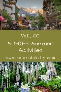 Want to visit Vail Colorado but think it is too expensive? Here is a short list of 5 FREE family friendly activities Vail Colorado, Vacation Trips, Vacation Spots, Vacation Ideas, Vacations, The Places Youll Go, Places To Go, Vail Village, Free Summer