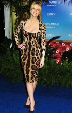 I'm sorry.  I just don't think it's possible to wear leopard and not look like a cougar.