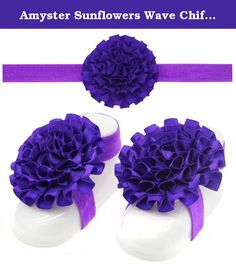 Amyster Sunflowers Wave Chiffon Baby Foot Straps Suit Baby Wristband Children's Photography (Set foot flower+Dark purple). Amyster is a specialized high-quality children's hair accessories, this is one of my great gift for your baby, you can be as a gift to your family, friends, colleagues. Soft fabrics, exquisite workmanship, feeling and feel comfortable wearing. Unique design and color matching, so that your child is in a beautiful partner role. We believe that the product, which is…