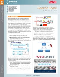 Apache Spark Cheat Sheet from DZone Refcardz - Free, professional tutorial guides for developers Apache Spark, Data Science, Big Data, Cheat Sheets, Embedded Image Permalink, Web Development, Get Started, Learning, Twitter