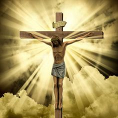 pic of jesus christ - Jesus Christ on the Cross with Clouds - JPG
