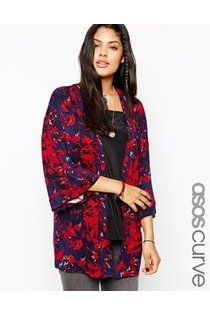 ASOS CURVE Exclusive Kimono in Floral Bird Print - Multi by Asos :: Clozette Shoppe