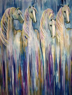 Equine Abstract Horse Painting By Contemporary Colorado Artist Jennifer Morrison
