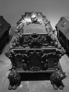 Absolutely beautiful coffin from the Imperial Crypt in Vienna, Austria.