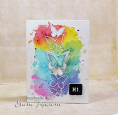 Watercolor card by Erum