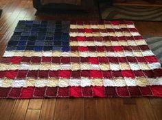 American flad rag quilt