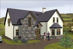 dorm070 Cottage House Plans, New House Plans, Cottage Homes, House Floor Plans, Bungalow Exterior, Irish Cottage, Passive House, Log Homes, Amazing Architecture