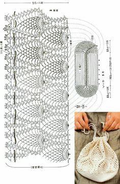 [코바늘도안] 코바늘 파우치 / 코바늘 클러치 /코바늘 케이스 / 코바늘 가방 / 코바늘 미니백 디자인