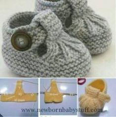 40 + Knit Baby Booties with Pattern - Page 3 of thousands of images about Omika ist MonikaDiscover thousands of images about Einfach gestrickte Babyschuhe mit freiem Muster Baby Knitting Patterns, Knitting For Kids, Baby Patterns, Knitting Projects, Hand Knitting, Crochet Patterns, Baby Shoes Pattern, Crochet Baby Shoes, Crochet Baby Booties