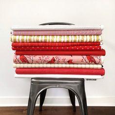Cardinal Delight | Fat Quarter Bundle Fabric Shop, Fat Quarters, Vanity Bench, My Favorite Things, Shopping, Home Decor, Homemade Home Decor, Decoration Home