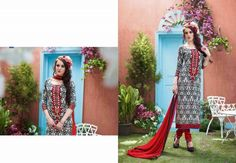 Tranquil red cream salwar kameez will add shine to your character with black printed design on kameez, nice embroidery design, red color salwar and duptta. Addsharesale is a platform of suppliers meet sellers online portal. www.addsharesale.com