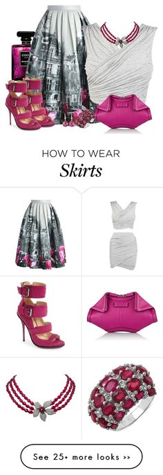 """""""how to wear Midi SKirt"""" by starpretygirl on Polyvore featuring Tom Ford, Chicwish, gx by Gwen Stefani, Alexander McQueen, Malaika and Monica Vinader"""