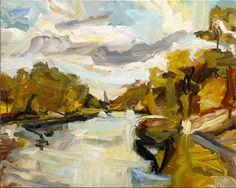 © Robert Malherbe ~ River II ~ 2013 Oil on linen at Tim Olsen Gallery Sydney Australia