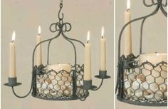 Chicken Wire Hanging Basket Chandelier from www.decorsteals.com~Enjoy Today's Steal from DECOR STEALS
