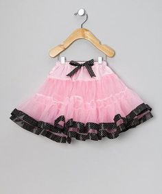 Light Pink & Black Polka Dot Tutu - Infant & Toddler by Ella's Tutus on #zulily #baby #clothes #infant #clothes #clothing #shower #gift #girl #girls #skirt #Pettiskirt #petticoat #dance #ballet #tutu #ballerina #ruffle #ruffles #ruffled #tier #tiered #pink #black #party #polkadot #swing #polka #dot #retro #sockhop #sock #hop #swing #vintage #fifties #50s #bobbysoxer