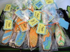 Memories By Anna Dawn: Cookie Party Favors- Surf's Up Baby Shower