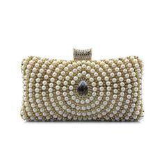 Palomino Diamante Beaded Bags (130 BRL) ❤ liked on Polyvore featuring bags, handbags, brown bag, brown handbags, beaded handbag, brown purse and beaded purse