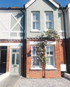 Likes, 54 Comments - Lucy Jayne House Front, My House, Kerb Appeal, Porch, Garage Doors, Glow, Garden, Outdoor Decor, Buildings
