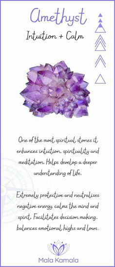 Amethyst. Intuition and calm. ☆
