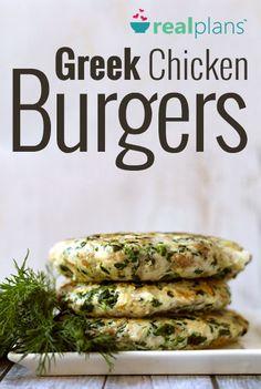 Greek Chicken Burgers (AIP)