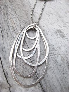Heavy guage sterling silver overlapping by LisaColbyMetalsmith