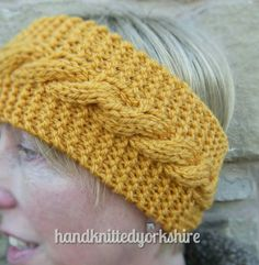 Hand Knitted Ladies Headband Ear Warmer by HandKnittedYorkshire