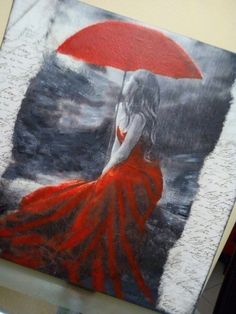 Decoupage canvas and painting Νοσταλγία!!!