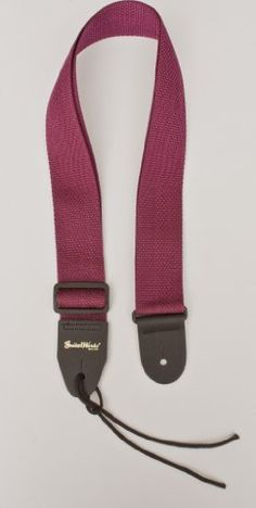 Guitar Strap Burgundy Maroon Nylon with Solid Leather Ends & Heavy Duty Tie Lace Quality Made in U.S.A. Fast Free Shipping To Any U.S. Address by Guitar Works, Inc.. $6.99. Our Guitar Works, Inc. Nylon Straps have been the best selling work horse straps here at the store FOR OVER 20 YEARS. Features an adjustable durable plastic buckle for adjusting the length (You don't want metal buckles. They will tear up the finish on your instrument while it is in the case) Th...