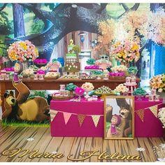 #Masha e o #Urso Bear Birthday, 4th Birthday, Birthday Parties, Birthday Cake, Marsha And The Bear, Bear Party, Christmas Birthday, Party Planning, First Birthdays