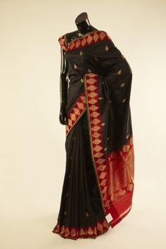 Banarsi- silk black saree with blouse