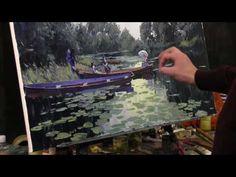 Приемы Клода Моне, 1 часть, импрессионизм, работа с фотоматериала, художник Артём Пучков - YouTube